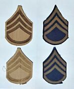 Wwii Us Army Patches Lot Of 4 Staff Sergeant Insignia Ww2 Military