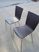 Pair Of Grand Rapids Chair Co. Chairs. Mojo Molded Plywood - Discontinued.