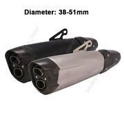 38-51mm Universal Exhaust Muffler Pipe For Large Displacement Motorcycles
