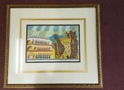 Shalom Moskovitz The Fall Of The Jericho Walls andrlm1960 Lithograph Edition Of 100