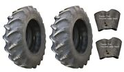 2 New Tires And 2 Tubes 18.4 34 Harvest King R1 Tractor Rear 8 Ply Tt 18.4x34 Fs