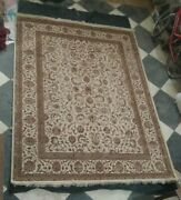 100 Silk Peach Color Handmade 7and0398and039and039x10and0393and039and039 Feet Turkish Oriental Area Floor Rug