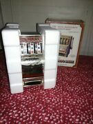 Vintage Buckaroo Slot Machine Coin Bank Reproduction Style Of The Jennings W/box