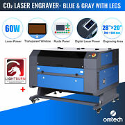 Omtech 60w 28x20 In.ruida Co2 Laser Engraver Engraving Cutting With Lightburn