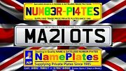 Marriott Mariots Ma21 Ots Private Plate Name Plate Cherished Number 21 Reg
