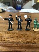 """Lot 4 Lead Toy Figures Police Crossing Guard Woman Child 1.5"""" Barclay Manoil"""