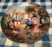 Hummel Apple Tree Boy And Girl 1989 Danbury Mint Collector Plate Cp6