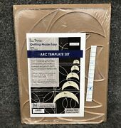 Westalee Sew Steady Free Motion Quilting Made Easy Arc 5pc Long Arm Template Set