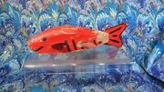 Vintage Fish Decoy Red Lure Ice Fishing Andnbsphand Carved And Painted Nice Minnesota