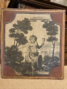 18th Century French Provincial Boiserie Panel Painting Of Bacchus Roman God