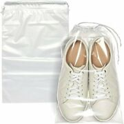 100 Clear Plastic Drawstring Bags Cinch Pack Backpack Stadium Compliant Travel