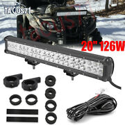 For Can-am Outlander/renegade Front Bull Bar Bumper 20and039and039 Led Light Bar Mount Kit