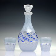 Unique Mike Hunter Glass Decanter And Matching Tumblers