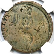 1787 -g.2 Ngc Vg 8 Rev Brockage Connecticut Colonial Copper Coin