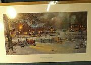 Farmall Tractor Print By Dave Barnhouse - Home For The Holidays - Ltd Ed S/n