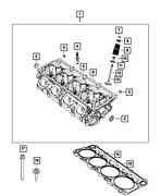 Genuine Engine Cylinder Head Assembly Right Side 68280504ac