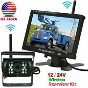 7 Wireless Hd Monitor Ir Rear View Backup Camera Parking System For Truck Bus