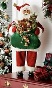 37andrdquo Tall Lighted Christmas Santa Claus Delivering Bag Of Presents Hcnmn21