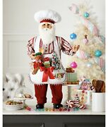 38andrdquo Tall Christmas Statue Santa Claus In Baking Outfit Hcnmn21