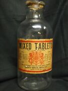 Antique Apothecary Drugstore Jar Candy Brothers Mixed Vitaminsearly 1900s