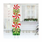 Oriental Cherry Candy Christmas Decorations Outdoor - 44in Peppermint Xmas Yard