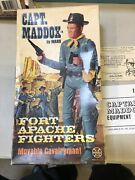 Marx Fort Apache Fighters Vintage Captain Maddox With Box