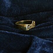 14k Yellow Gold Greek Key Style Ring -- Size 8 -- Total Weight 5.91 G