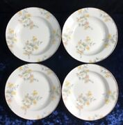 Set Of 4 1995 Camp Mackenzie Childs Enamelware Floral Bowls/plates 1.5andrdquoh X 9andrdquow
