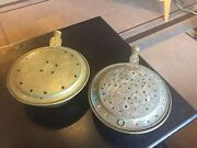 2 Antique Brass Or Copper Bed Warming Pans, No Handles