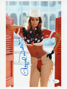 Raquel Welch Hand Signed 8x11 Color Photo    Gorgeous+sexy Cowgirl    Jsa