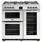 Belling 90g Cookcentre Prof 90cm Gas Range Cooker Stainless Steel 444444075