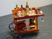 Dollhouse Miniature Reutter Cocktails Drinks Serving Trolley Cart 112 Scale F21