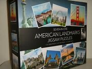 7 In 1 American Landmarks Jigsaw Puzzles By Professor Puzzle Set Of 7 + Gift Box