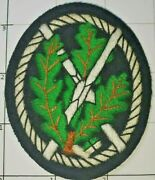 Hand Embroidered Edelweiss Patch German Army Mountain Troops Insignia Badge Ww2