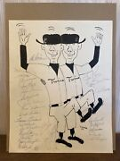 1965 Minnesota Twins Team Autographed 1 Of A Kind Drawing By Uncle Bill 11x14