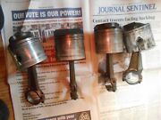 Pistons And Rods 1992 90hp Evinrude