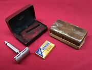 Antique Gillette Safety Razor In Box Wonder Blades + Another Box Early C-1 Lot