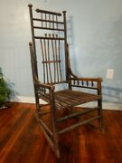 Antique Victorian Ball And Stick Rocking Chair Small Adult Youth Rocker