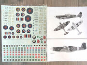 Canadian Spitfire/mustang/armor Wwii Rcaf Msap Decals 1/72-48-35