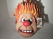 New The Year Without A Santa Claus Heat Miser Full Head Latex Mask