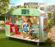 American Girl Maryellenand039s Airstream Travel Trailer Camper Complete No Doll Dog