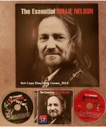 Willie Nelson Signed Auto Essential Set 12x12 Flat And Cd Set By Entire Band Proof