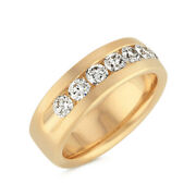 0.40 Ct Real Diamond Engagement Ring Solid 14k Yellow Gold Mens Band Size 10 12