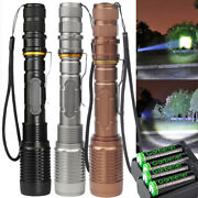 Police 990000lm 5 Modes L2 Led Zoomable Tactical Flashlight Torch Lamp Aluminum