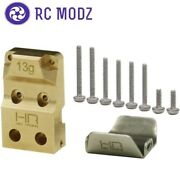 Hot Racing Brass Diff Cover W/stainless Steel Skid Plate Axial Scx24 Sxtf12cp