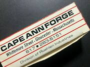 Vintage 1970-80and039s 4-pack Wooden Match Boxes Cape Ann Forge Standex / Roehlen