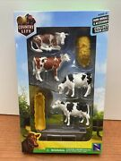 Country Life Collection Cow Figurine Playset Farm Animals By New Ray