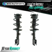 Pair Front Strut And Coil Spring Assembly For 2009-2012 Toyota Corolla 2.4l Matrix