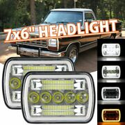 2pcs 5x7 7x6 500w Led Headlights Hi/lo Beam H4 For Dodge D150 D250 D350 Ram 50