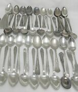 50 Lot Silverplate Oval Spoons Wedding Soup Dessert Place Tableware Silver Mixed